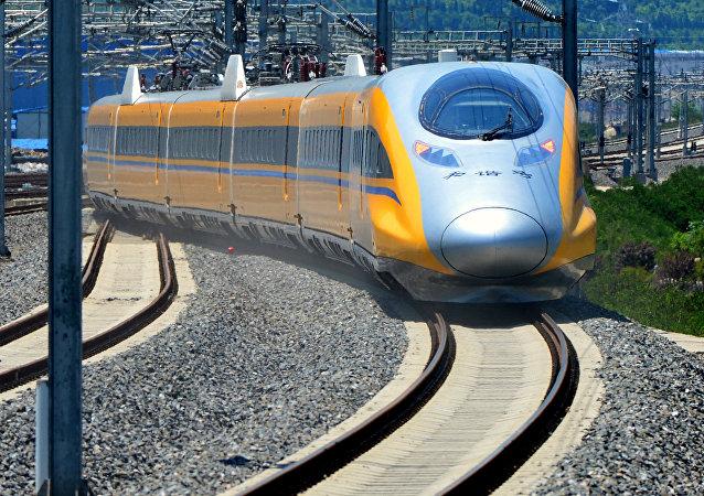 Un tren chino (imagen referencial)