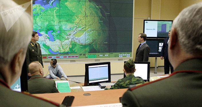 El puesto de mando del radar Voronezh-DM (archivo)