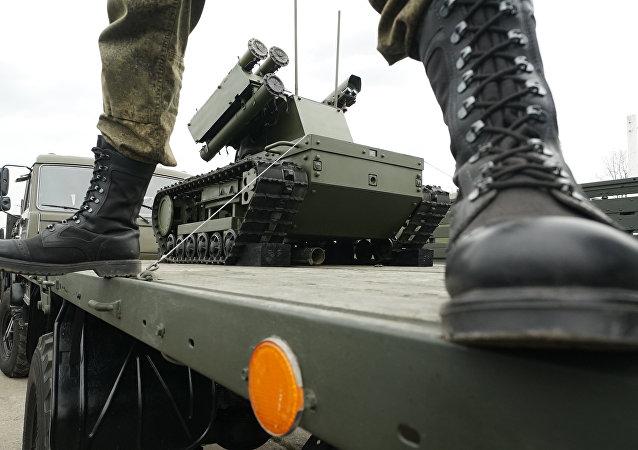 Un militar ruso en la región de Kaliningrado
