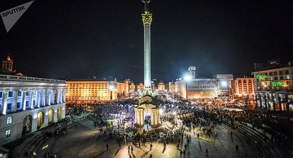 El Maidán Nezalézhnosti (Plaza de la Independencia) de Kiev