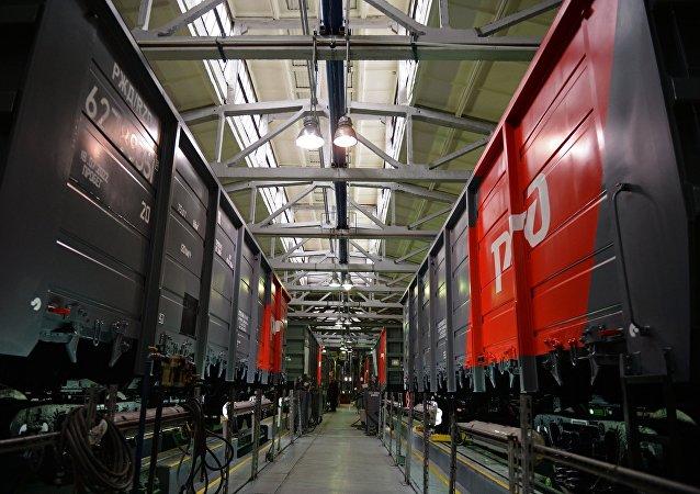Construcción de vagones en la planta Uralvagonzavod