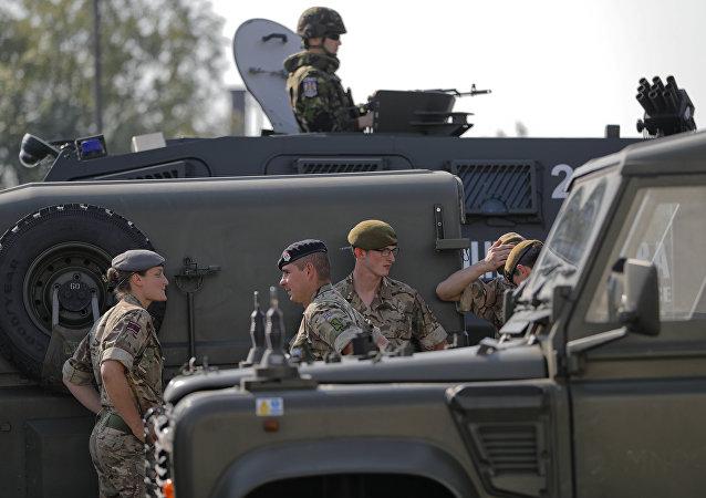 Los militares de la OTAN durante las maniobras Noble Jump 2017