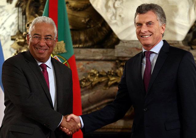 Presidente de Argentina, Mauricio Macri, y el primer ministro de Portugal, Antonio Costa