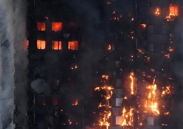 Incendio en edificio de viviendas Grenfel Tower de Londres (archivo)