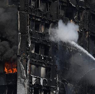 Incendio en el edificio de viviendas Grenfell Tower, en Londres