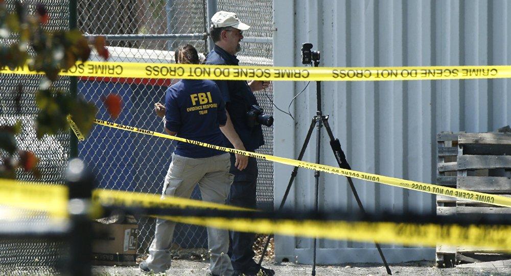 Agentes del FBI en el lugar del tiroteo en Virginia