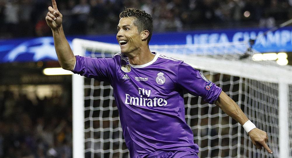 Cristiano Ronaldo del Real Madrid en la final de la Champions League