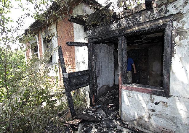 Consecuencias de los ataques en Donetsk
