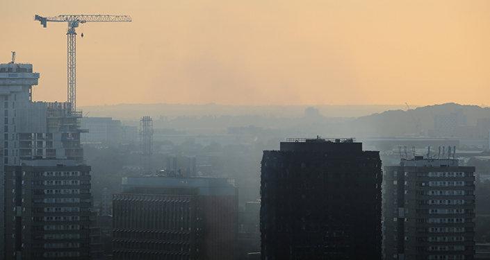 Grenfell Tower, en Londres, después del incendio