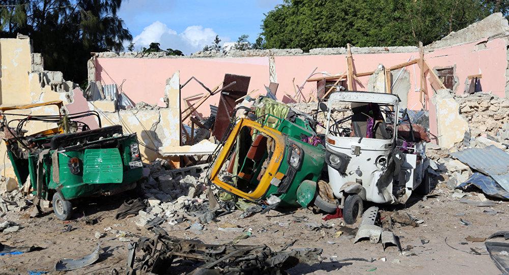 Lugar del atentado en Mogadiscio, Somalia (archivo)