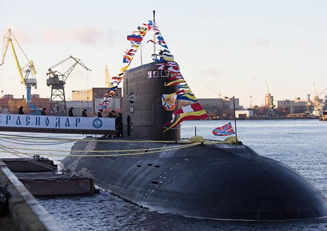 Submarino ruso de la clase Varshavyanka 'Krasnodar' (archivo)