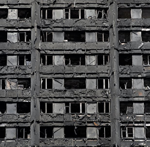 Grenfell Tower, en Londres, después del incendio