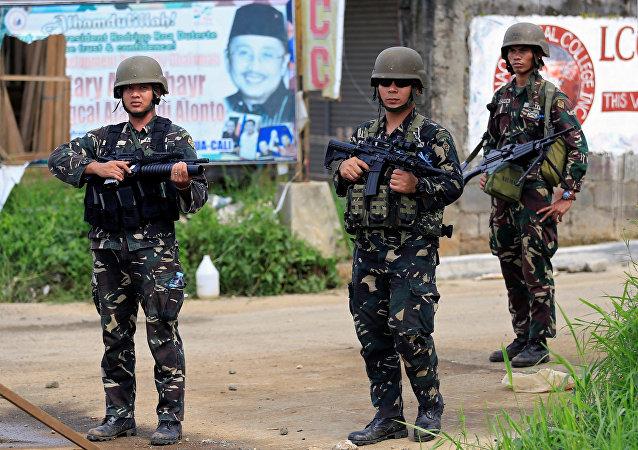 Militares filipinos en Marawi
