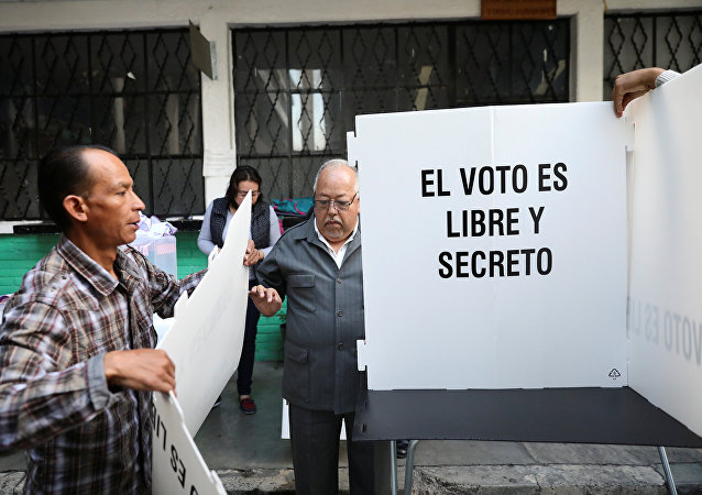 La preparación para las elecciones en México (archivo)