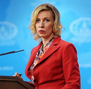 María Zajárova, portavoz de la Cancillería rusa