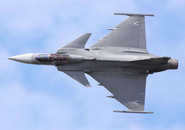 El caza sueco Gripen