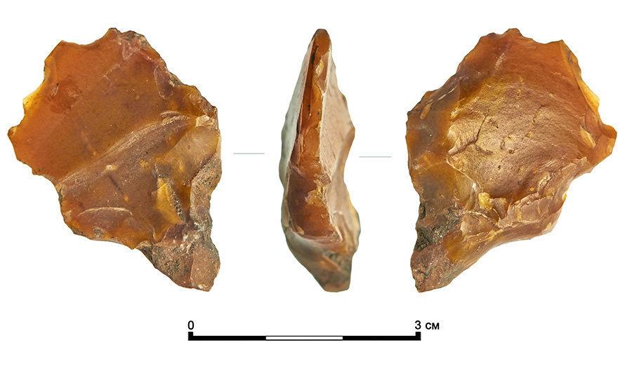 Un cortador de la época neolítica encontrado en la calle de Moscú
