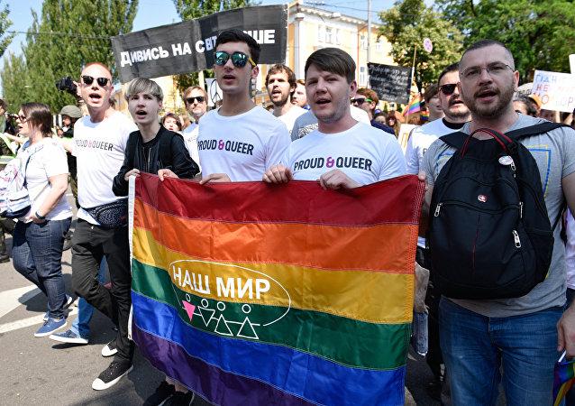 La marcha de la comunidad LGBT en Kiev