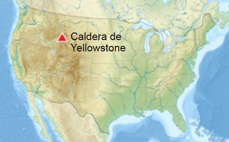 Ubicación del Parque Nacional de Yellowstone