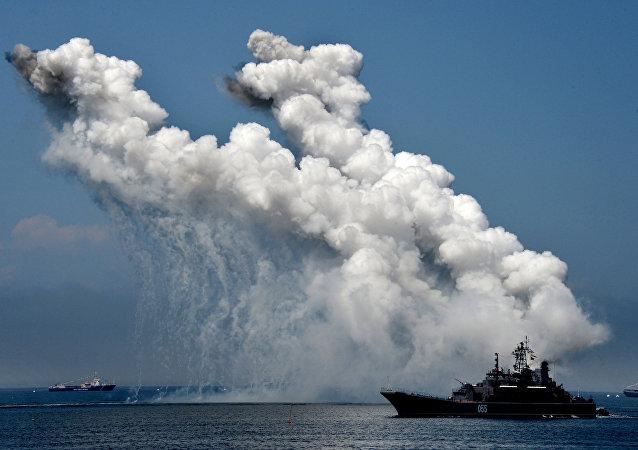 Un buque militar de Rusia