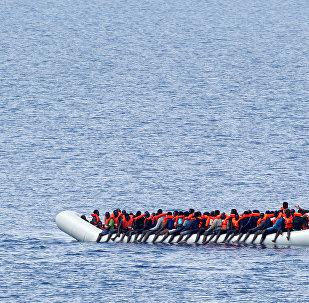 Los migrantes en el Mediterráneo