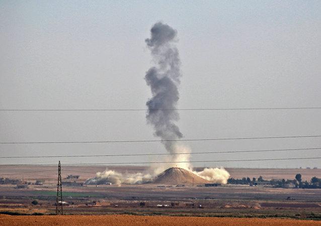 Ataque aéreo de la coalición liderada por Estados Unidos