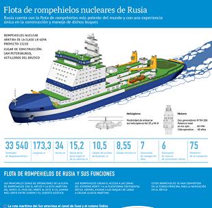 La más potente del mundo: la flota de rompehielos nucleares rusos, al detalle