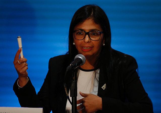 Delcy Rodríguez, la presidenta de la Asamblea Constituyente de Venezuela