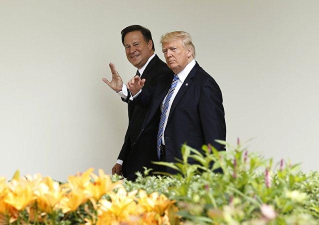 Presidente de Panamá, Juan Carlos Varela, y presidente de EEUU, Donald Trump