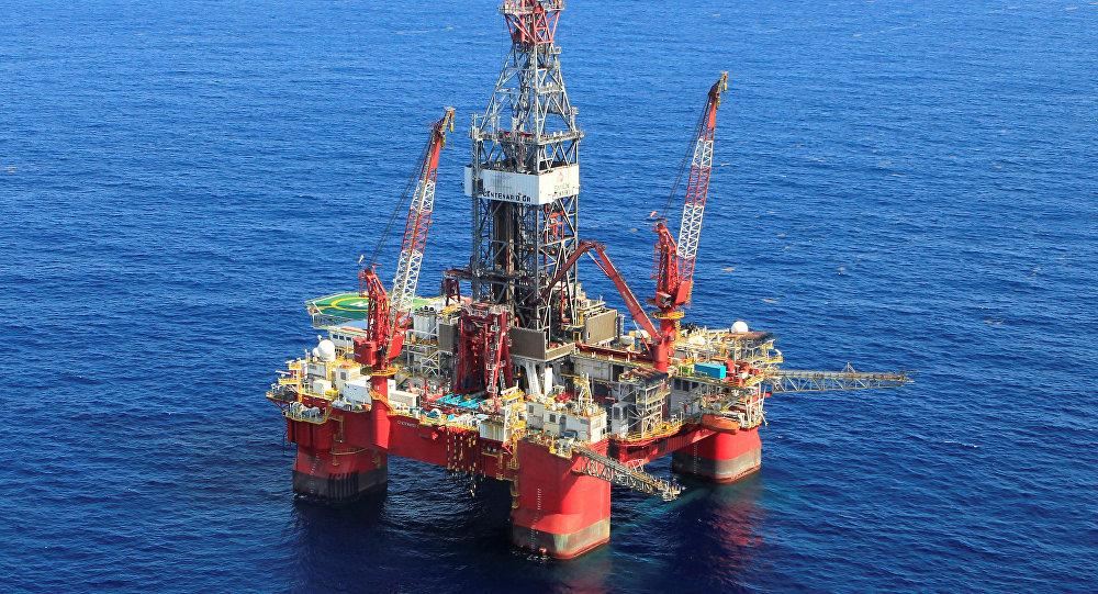 Plataforma petrolífera en Golfo de México