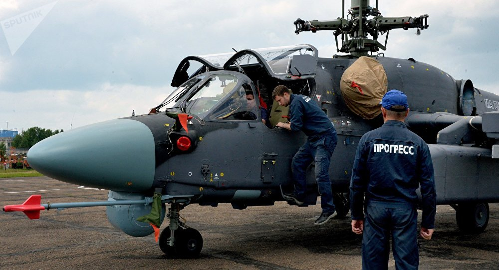 Helicóptero Ка-52К ruso