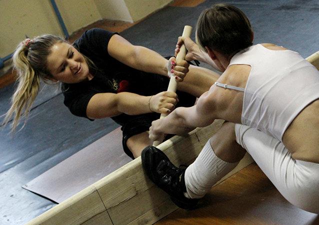 Una competición de mas-wrestling