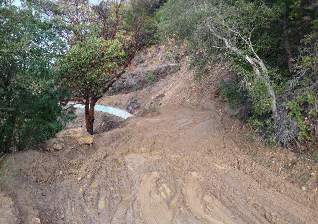 Un deslizamiento de tierra (imagen referencial)