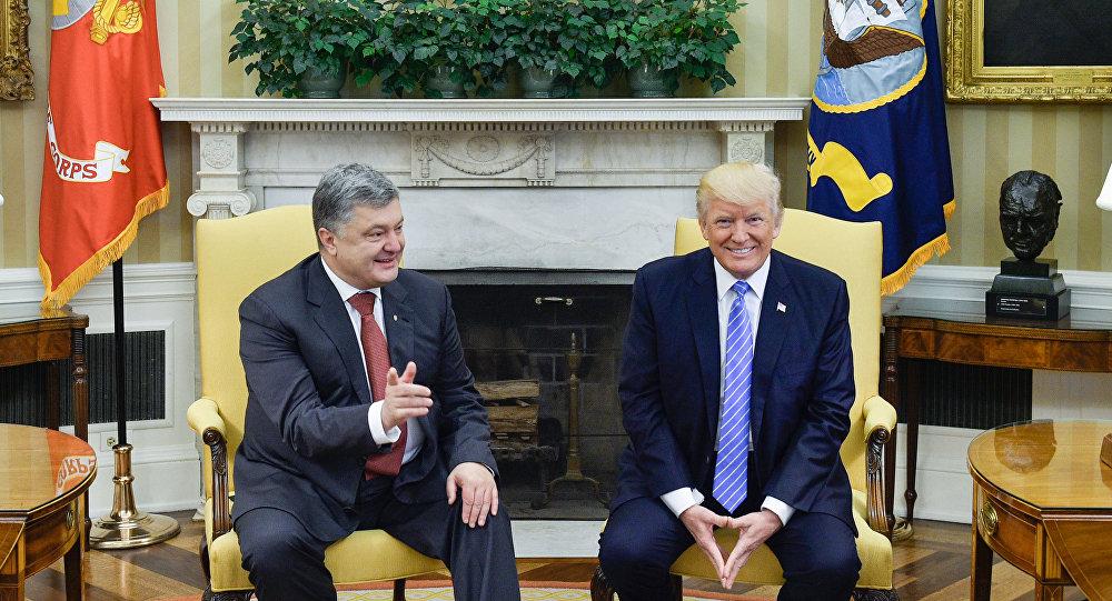 Petró Poroshenko, presidente de Ucrania, y Donald Trump, presidente de EEUU