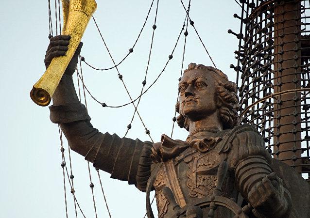 El monumento a Pedro el Grande (archivo)