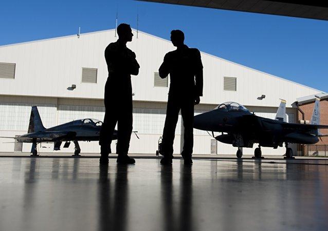 Los pilotos militares estadounidenses (archivo)