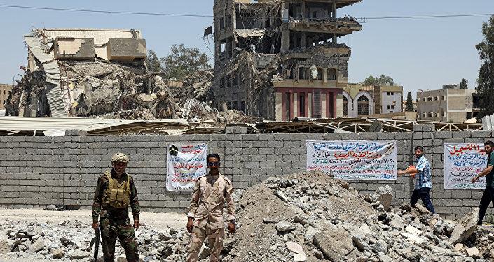 La fuerzas iraquíes en Mosul