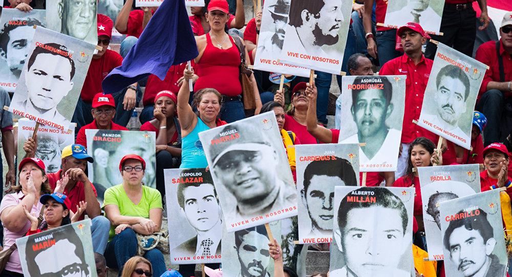 Los retratos de las víctimas de la dictadura de Marcos Pérez Jiménez (archivo)