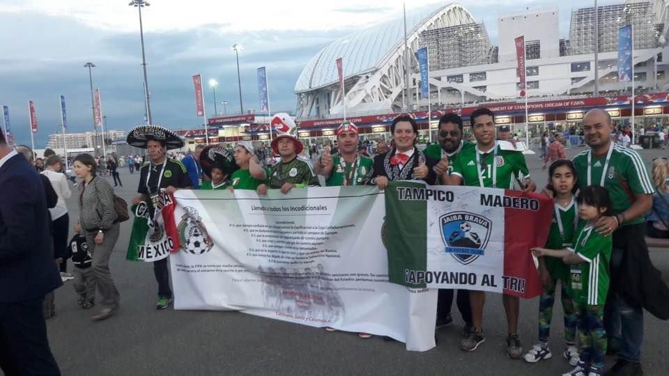 Hinchas mexicanos en Sochi
