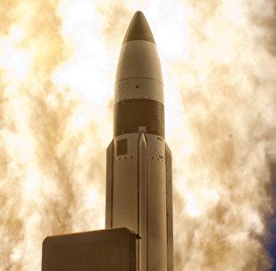 Un misil de medio alcance SM-3 (archivo)