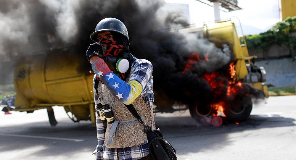 Protestas opositoras en Caracas