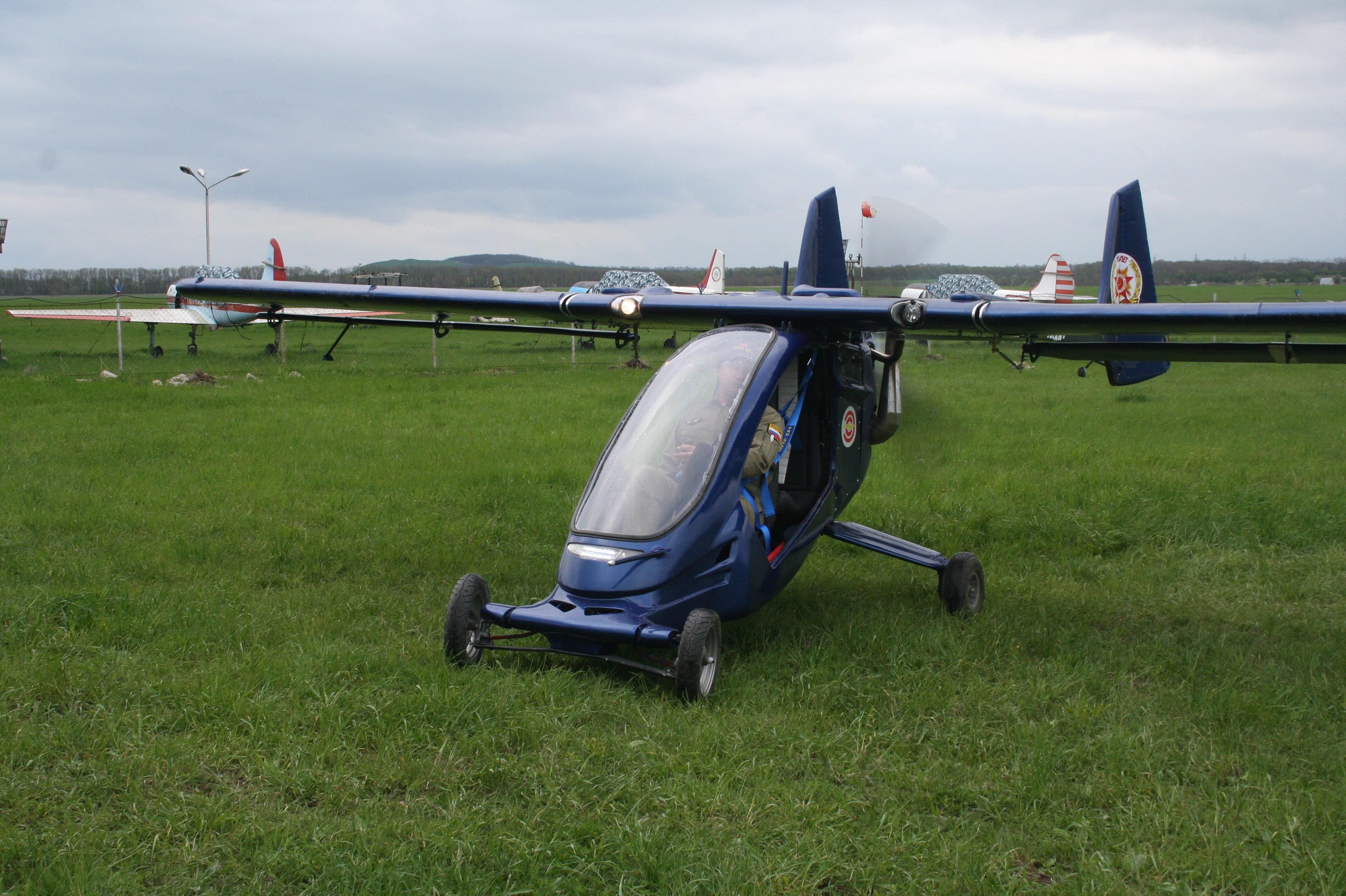 Una versión del begalet con alas rígidas: en esencia, un avión ultraligero