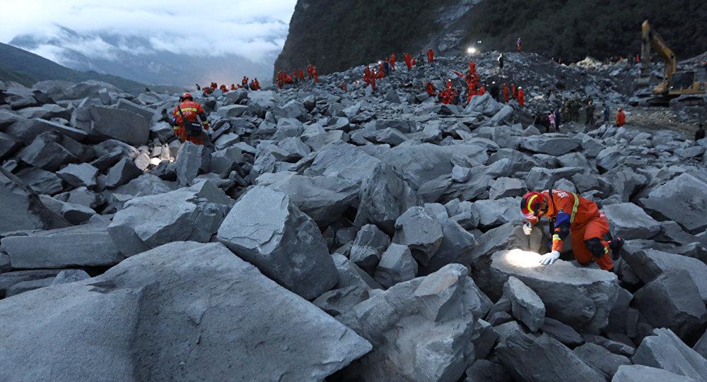 Consecuencias del deslave de tierra en China