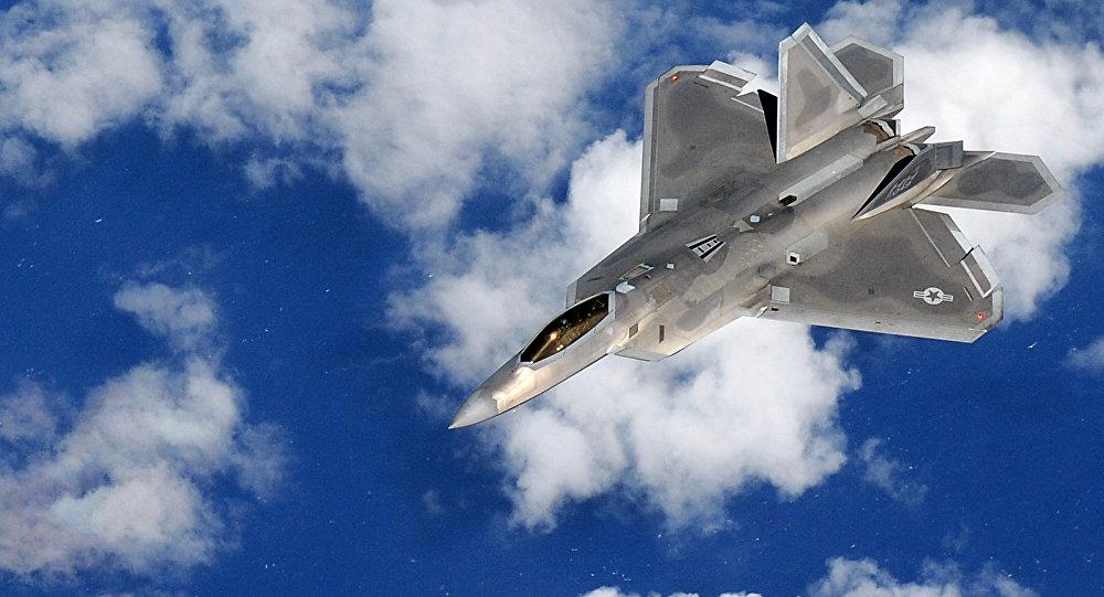 Un caza F-22 Raptor