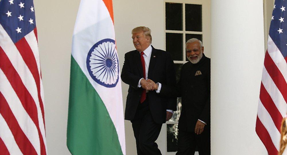 Presidente de EEUU, Donald Trump, y primer ministro de la India, Narendra Modi