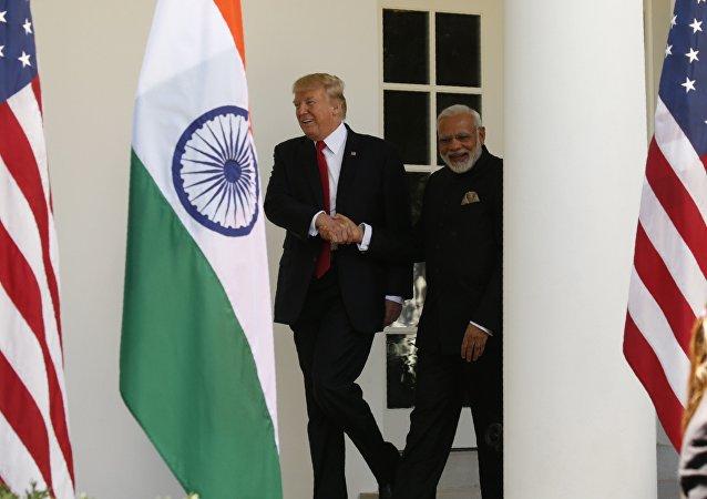 Presidente de EEUU, Donald Trump, y primer ministro de la India, Narendra Modi (archivo)