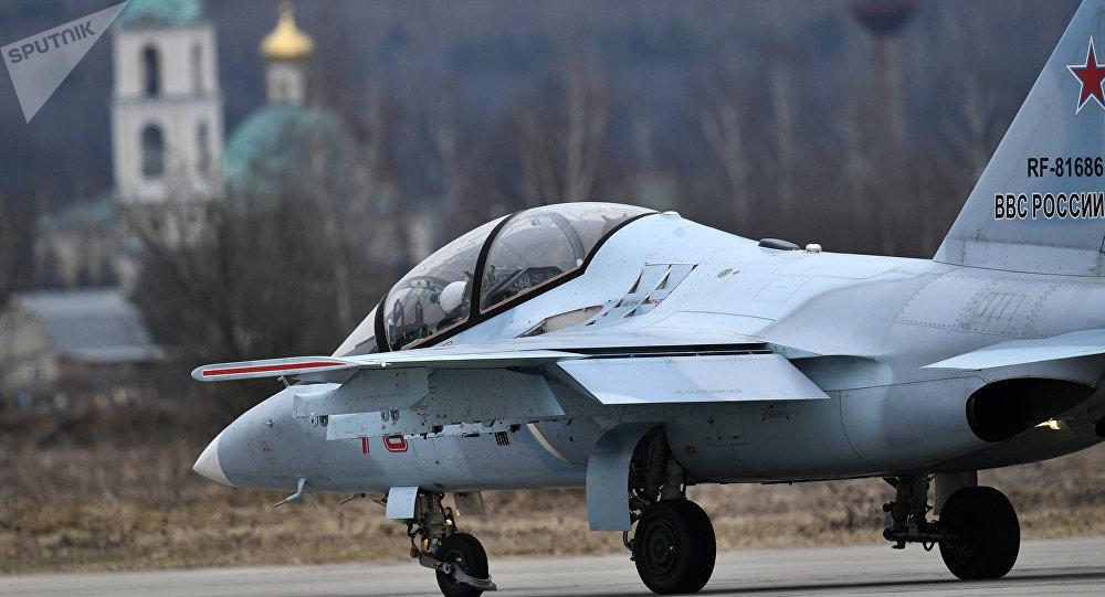 Un Yak-130 ruso antes de despegue (archivo)