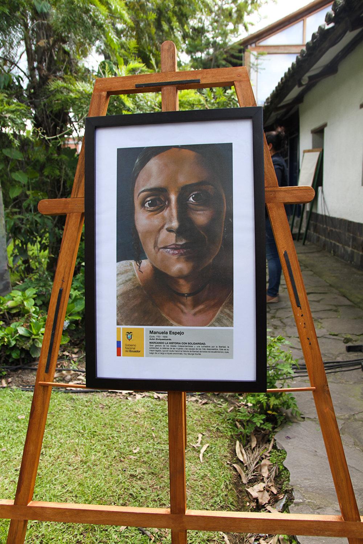 El retrato de Manuela Espejo, prócer de la independencia.