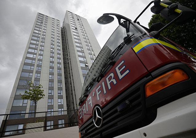 Evacuación de Burnham Tower en Londres