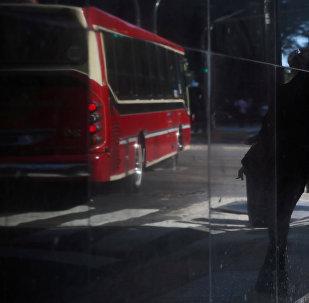 Una parada de autobús en Buenos Aires, Argentina (archivo)